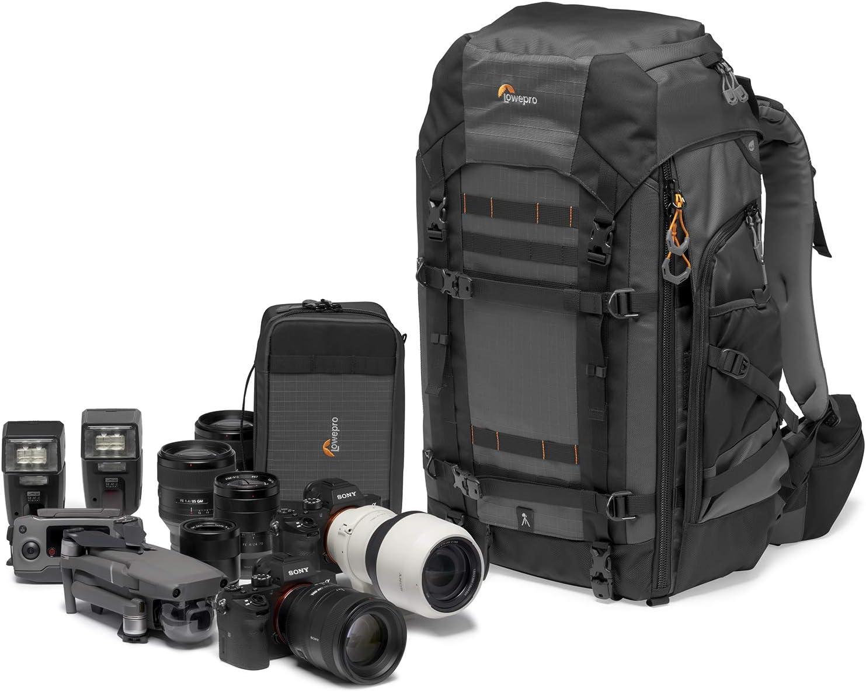 Lowepro Pro Trekker BP 550 AW II Backpack for Pro CSC / Pro DSLR, Black/Dark Gray
