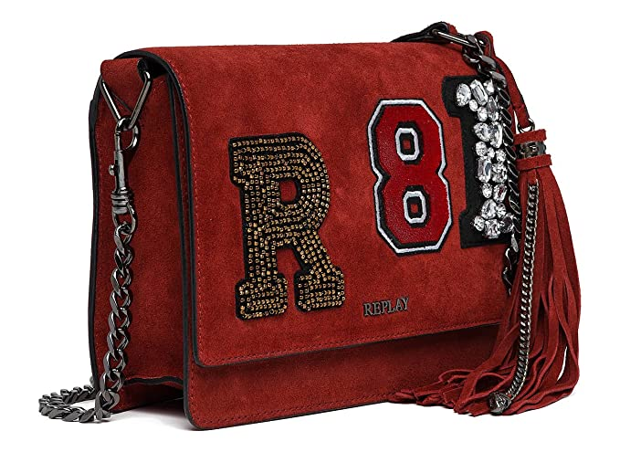 d675ed8f6241 Replay Natural Suede Women s Cross Body Bag Red  Amazon.com.au  Fashion