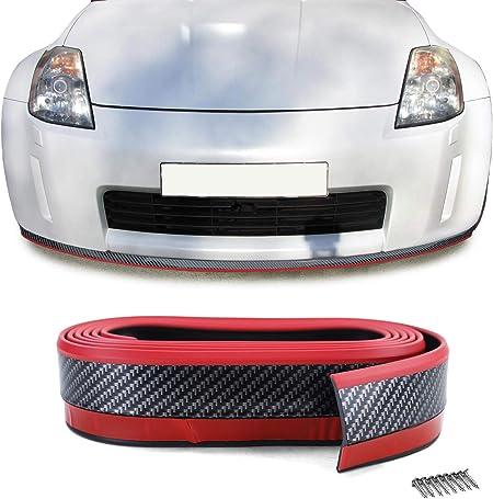 Tenzo R 33664 Front Spoiler Lippe Universal Flexibel 2 5mx5cm Carbon Optik Rot Auto
