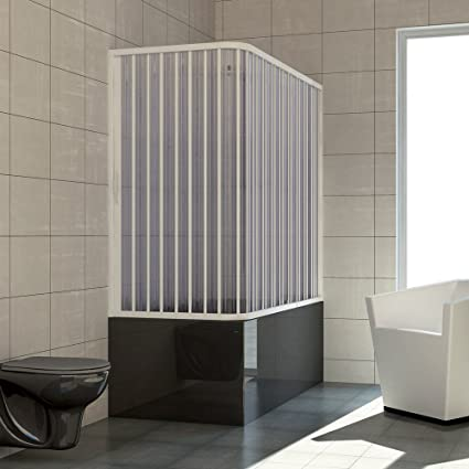 RL Mampara de bañera 70x170 CM de PVC Mod. Nadia con Apertura Lateral: Amazon.es: Bricolaje y herramientas