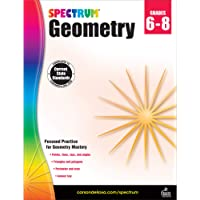 Spectrum Geometry Workbook Grades 6-8—Middle School State Standards Math for 6th, 7th, 8th Grade With Examples, Tests…