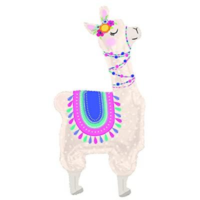 "DalvayDelights Llama Alpaca Pink Selfie Birthday Party Hello Baby Shower Welcome 47"" Foil Mylar Balloon: Toys & Games"