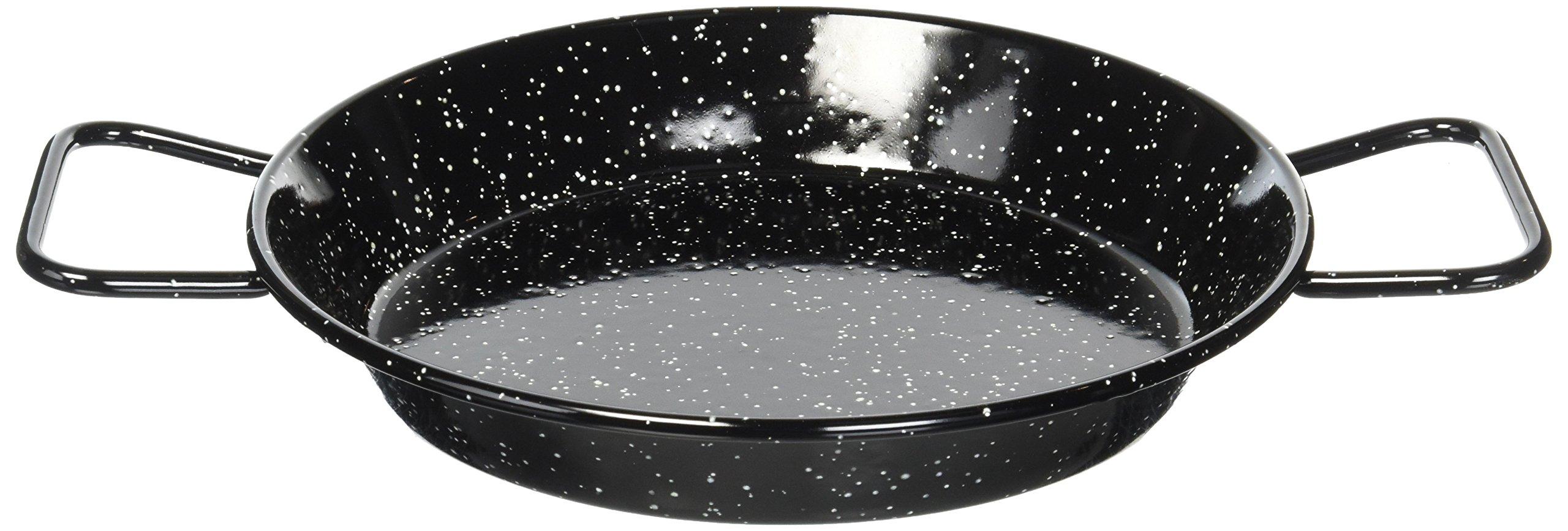 Garcima 9-1/2-Inch Enameled Steel Paella Pan, 24cm