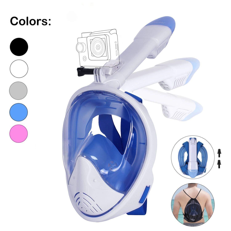 Unigear Máscara De Buceo 180° Vista Panorámica Facial Completa con ...