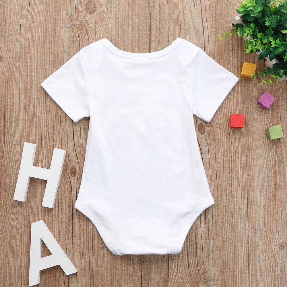 OVINEE Neugeborenes M/ädchen Kleidung Kleinkind Baby M/ädchen One Piece Footies Jungen Overall Infant Outfits Strampler Brief drucken
