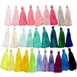 Handmade DIY Tassels Multicolor Available Choice 29 pcs with Different Colors of Tassels (29 pcs tassels)