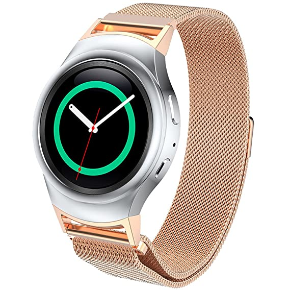 DBMOOD Mesh Watch Band for Samsung Gear S2 RM-720 Smart Watch,Stainless Steel,4 Color,8.26 Inches Rose gold