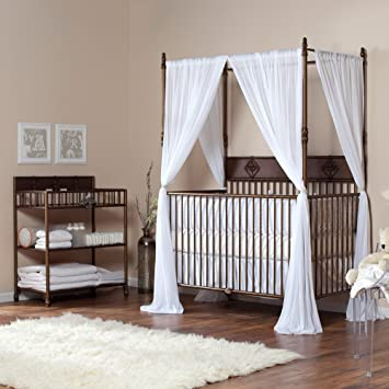 Bratt Decor Wrought Iron Indigo 2 in 1 Convertible Crib Collection - Venetian Gold & Amazon.com : Bratt Decor Wrought Iron Indigo 2 in 1 Convertible ...