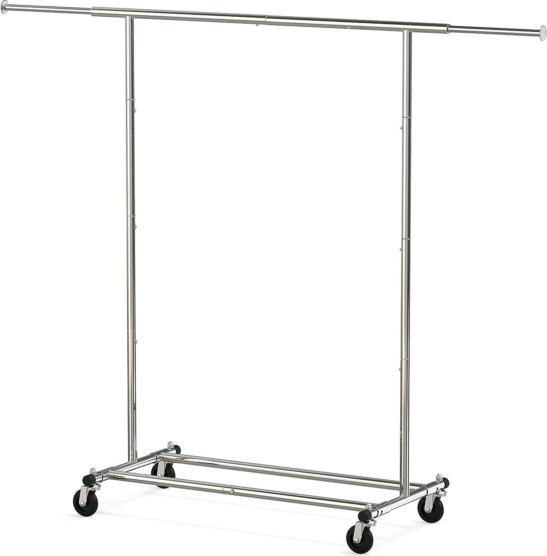 Simple Houseware Heavy Duty Clothing Garment Rack, Chrome: Home & Kitchen