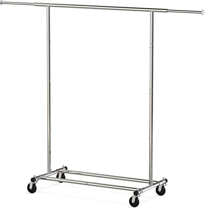 Amazon.com: Simple Houseware Heavy Duty Clothing Garment Rack, Chrome: Home & Kitchen