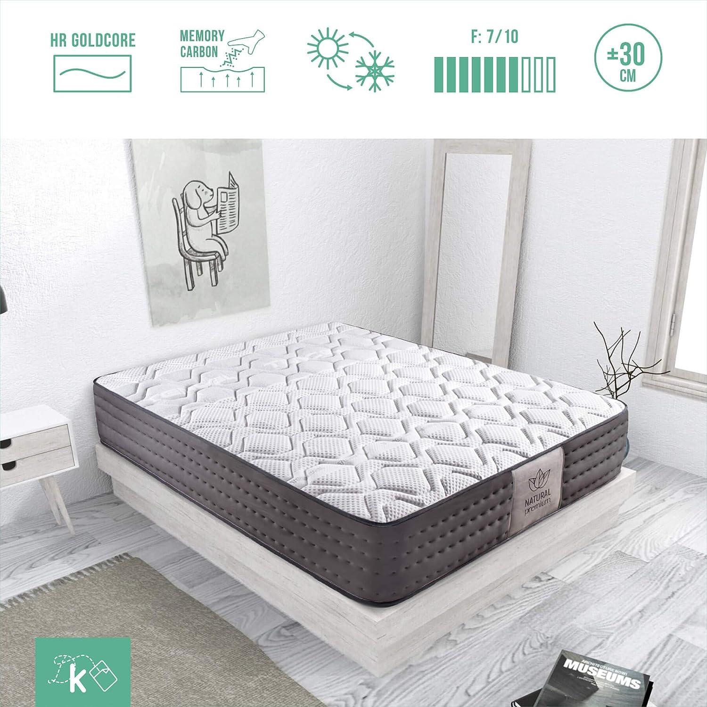 Dreaming Kamahaus Colchón Luxury Visco-Tencel | Reversible | VISCOGRAFENO-GEL FRIO | Transpirable | ±30 cm altura | 180x200 cm