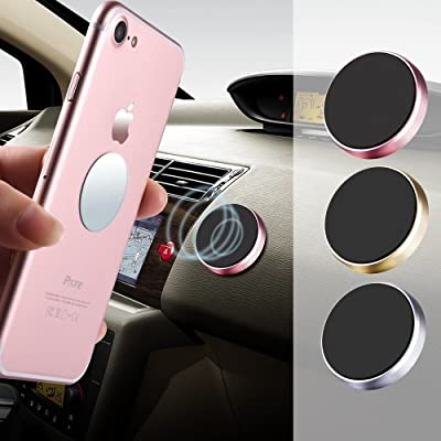 VizGiz 3 Pack Universal Dashboard Cell Phone Holder Steering Wheel Phone Holder Car Phone Mount Cradle Stand Sticker for GPS Tablet iPhone X 8 7 6s 6 Plus Galaxy S8 S7 S6 Edge,Note 5 4 etc