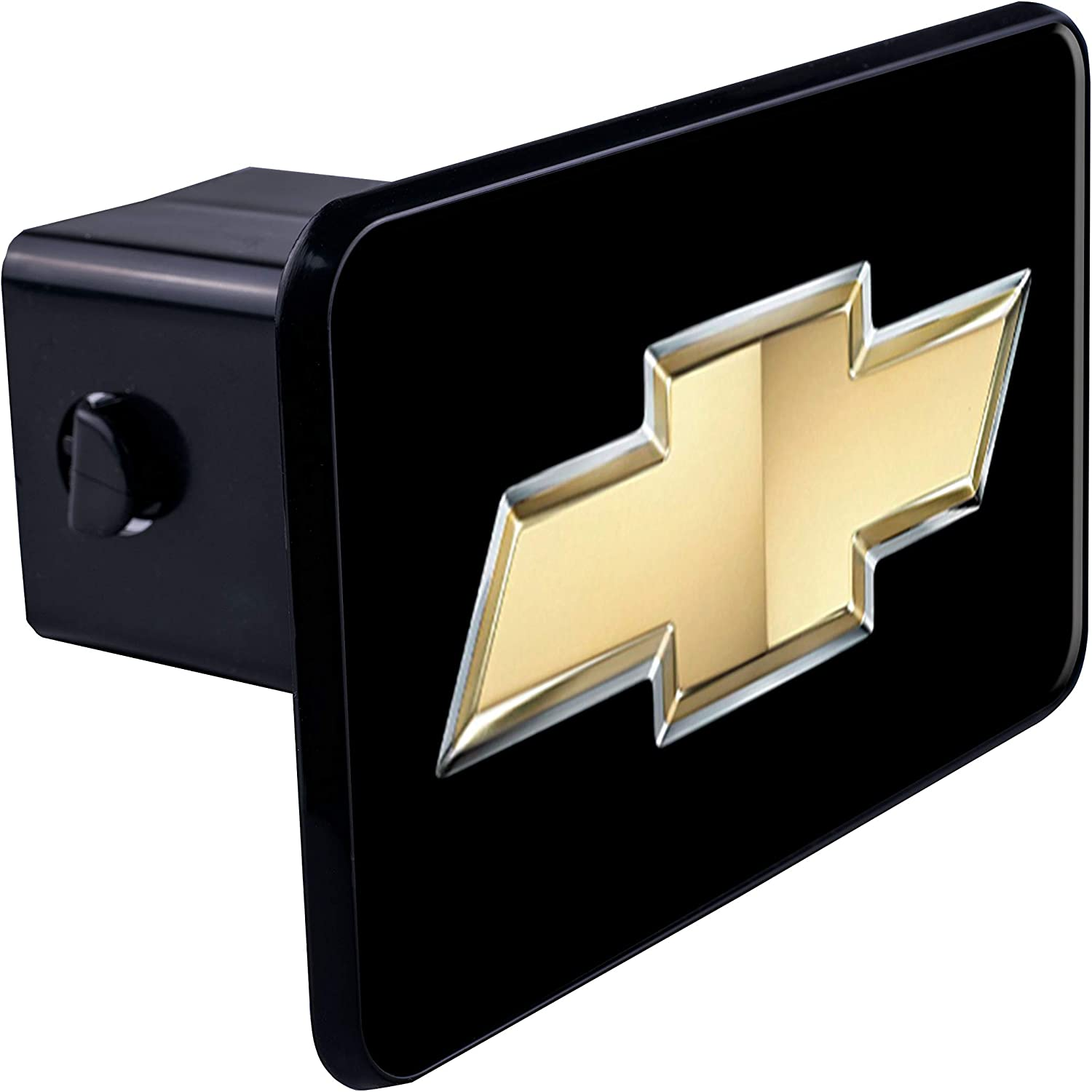 Chevrolet Silver Bowtie Black Hitch Receiver Cover High-End