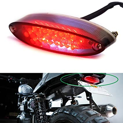 Universal Red Cross Led Rear Tail Brake License Plate Light For Choppers Quads High Quality Electric Vehicle Parts