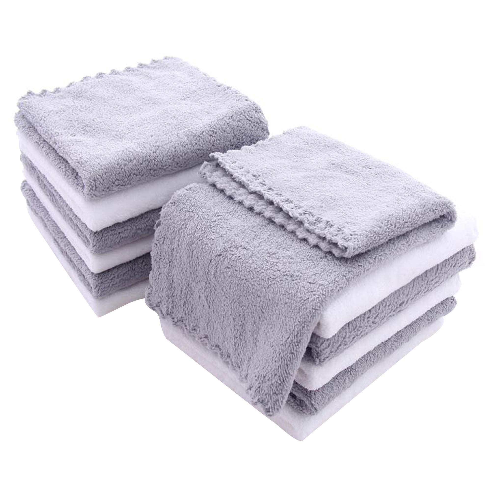 12 Pack Baby Washcloths – Extra Absorbent and Soft Wash Clothes for