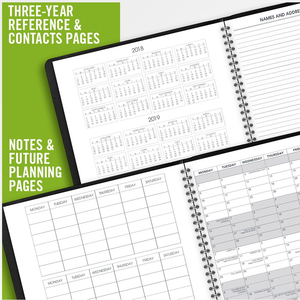 AT-A-GLANCE 2019-2020 Academic Year Monthly Planner Black 9 x 11 7007405 Large