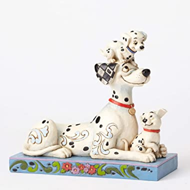 "Disney Traditions by Jim Shore ""101 Dalmatians"" 55th Anniversary Stone Resin Figurine, 6.25"""