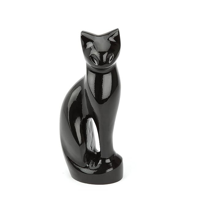 Urns UK Stanley Urne funéraire pour chat Noir
