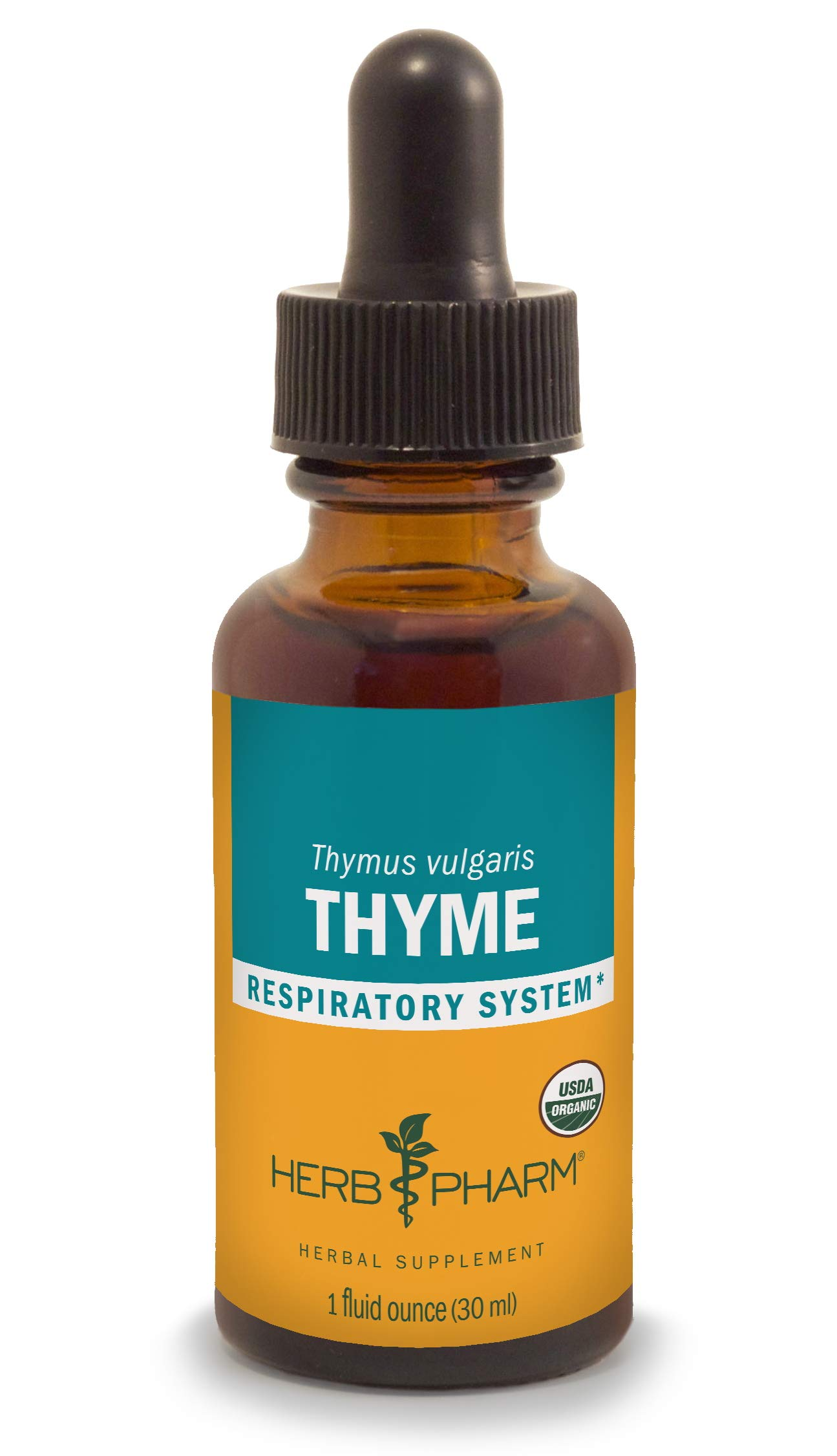 Herb Pharm Certified Organic Thyme Liquid Extract for Respiratory System Support - 1 Ounce by Herb Pharm