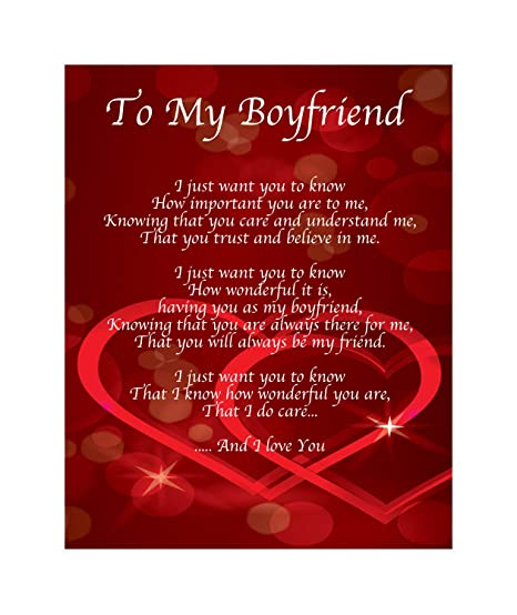 personalised to my boyfriend poem valentines day birthday christmas anniversary husband wife boyfriend girlfriend present gift
