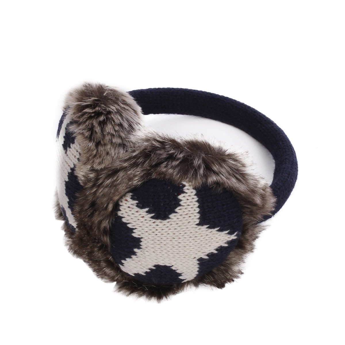 Winter Soft Faux Fur Adjustable Star Earmuffs Ear Warmers EM141US