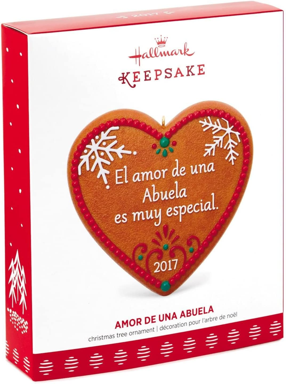 2017 Hallmark Ornament  AMOR DE UNA ABUELA Spanish Christmas Heart