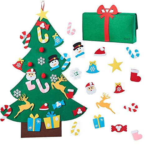 Amazon Com N T Nieting Diy Felt Christmas Tree Set With 26pcs