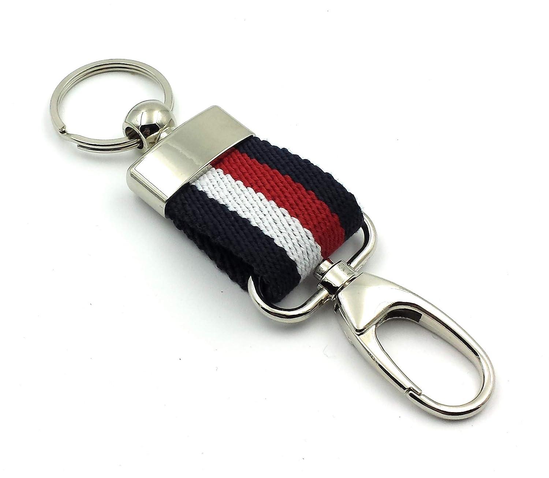 FJR-ArtPiel - Llavero tricolor lona Ubrique con mosquetón de seguridad - Calidad Extra: Amazon.es: Handmade