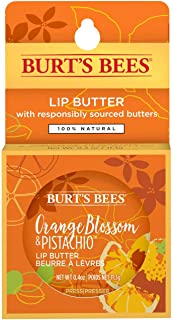 product image for Burt's Bees 100% Natural Moisturizing Lip Butter with Orange Blossom & Pistachio, 6 Tins