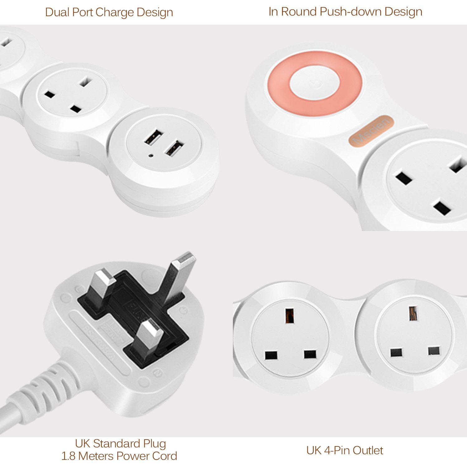 Extension Lead Cable Power Socket Mscien Uk 13a Plugs Bs1363 Plug Old Colour Wiring How To Wire A Electronics