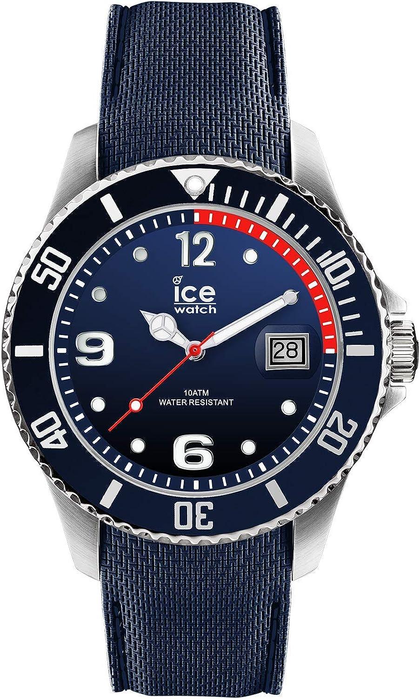 ICE-WATCH Ice Steel Marine - Reloj Azul para Hombre con Correa de Silicona, 015774 (Large)