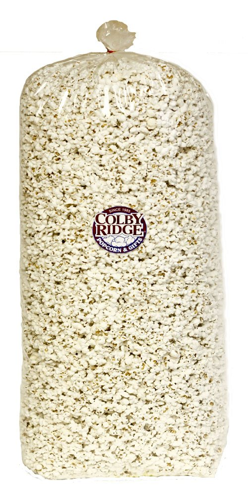 Gourmet White Popped Popcorn 80 oz. Bash Bag (Bulk 18 Gal. 288 Cups.) by Colby Ridge