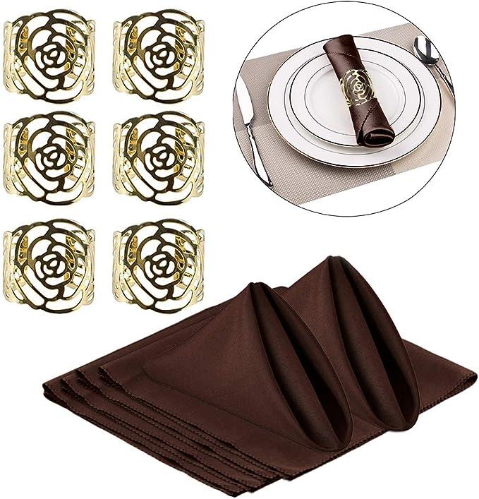 Serviettenring Party modisches Accessoire f/ür Hochzeit Abend Restaurant Dekoration Ototon 6 St/ück Serviettenringe aus Legierung