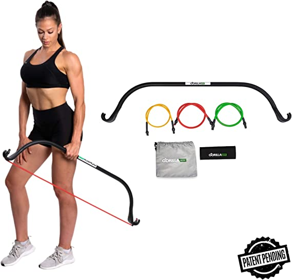 Gorilla Bow Portable Home Gym Resistance Bands and Bar System for Travel