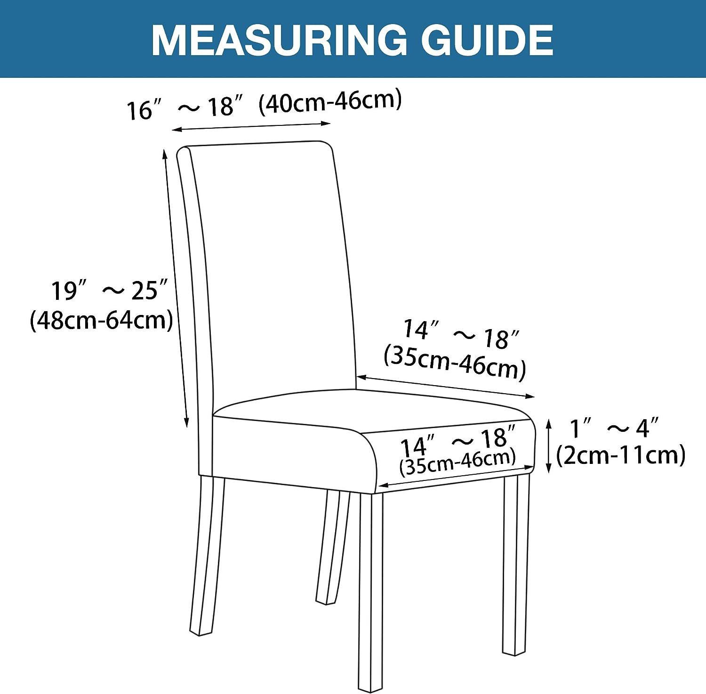 2 PCS Dining Chair taupe BellaHills Housse de chaise extensible en jacquard pour d/écoration de la maison et de la salle /à manger amovible lavable Housse de protection pour chaise de salle /à manger