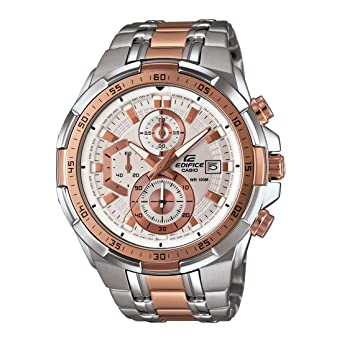 7aad5a33f6a2 Buy Casio Edifice Chronograph White Dial Men s Watch - EFR-539SG-7A5VUDF  (EX222) Online at Low Prices in India - Amazon.in