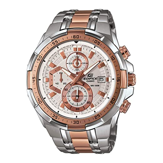 40af134ba2c Buy Casio Edifice Chronograph White Dial Men s Watch - EFR-539SG-7A5VUDF  (EX222) Online at Low Prices in India - Amazon.in