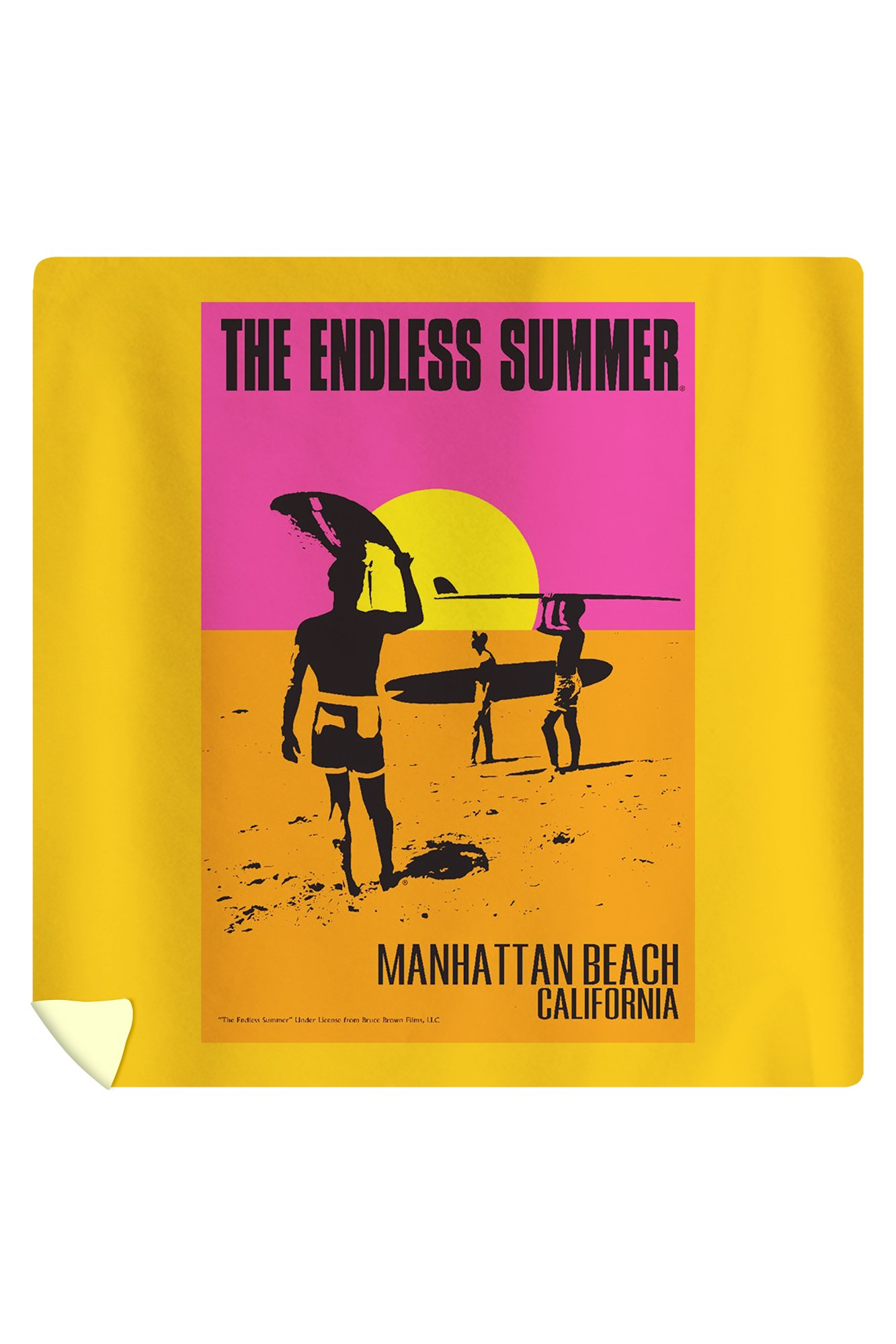 Manhattan Beach, California - The Endless Summer - Original Movie Poster (88x88 Queen Microfiber Duvet Cover)