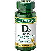 Vitamin D by Nature's Bounty, Supports Immune Health & Bone Health, 2000IU Vitamin...