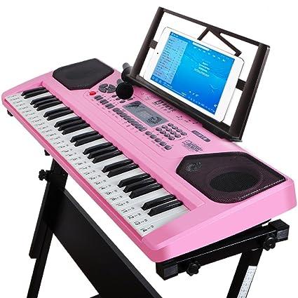 ZHXUANXUAN Teclado Digital para Niños Teclado para Piano con 61 Teclas Y Marco para Micrófono (