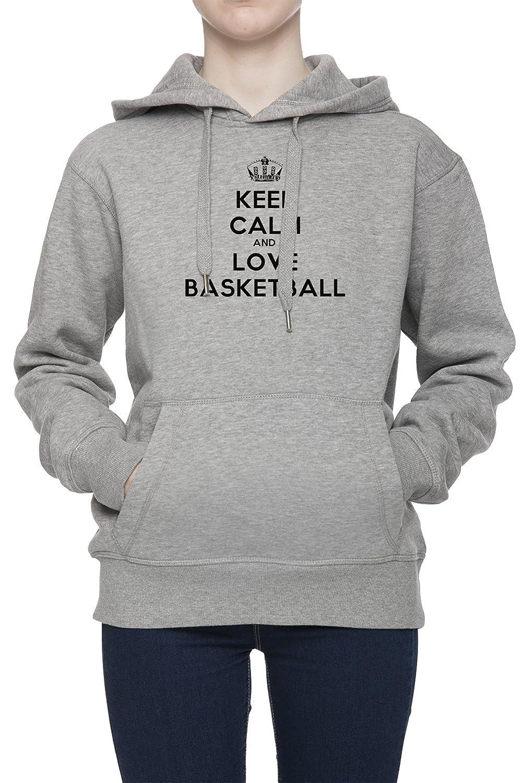 Keep Calm And Love Basketball Mujer Gris Sudadera Con Capucha Saltador Camisa De Rntrenamiento Capucha | Womens Grey Hoodie Jumper: Amazon.es: Ropa y ...
