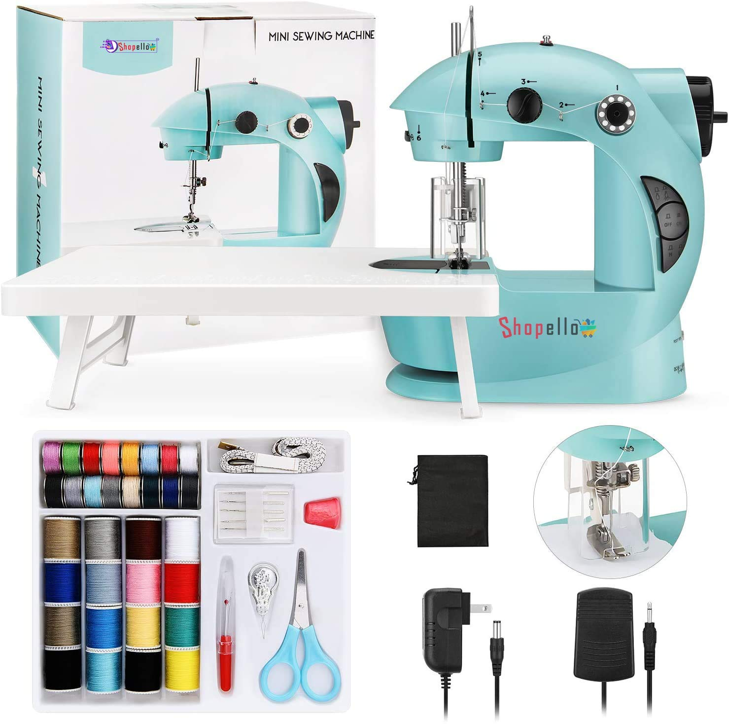SHOPELLO™ Multi Electric Mini 4 in 1 Desktop Functional Household Sewing Machine