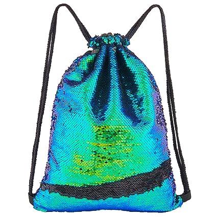 Amazon.com: Play Tailor Mochila con lentejuelas de sirena ...