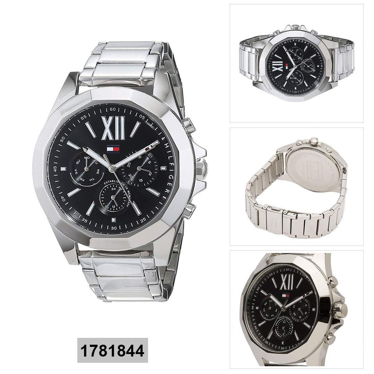 454e4c7f1c7ce5 Amazon.com  Tommy HilfigerLadies Analog Black Casual Quartz Tommy Hilfiger  Chelsea 1781844  Watches