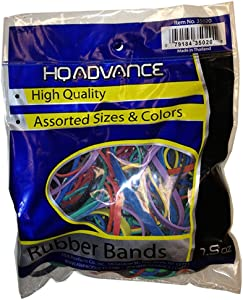 HQ Advance Products Rubberbands Assorted Color and Size (35020.P)