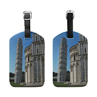 1Pcs Saobao Travel Luggage Tag Leaning Tower Of Pis PU Leather Baggage Suitcase Travel ID Bag Tag