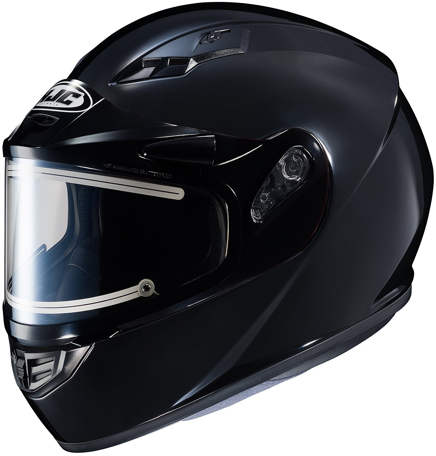HJC Helmets CS-R3 Solid Snow Helmet with Electric Shield (Solid Black, XX-Large) XF-10