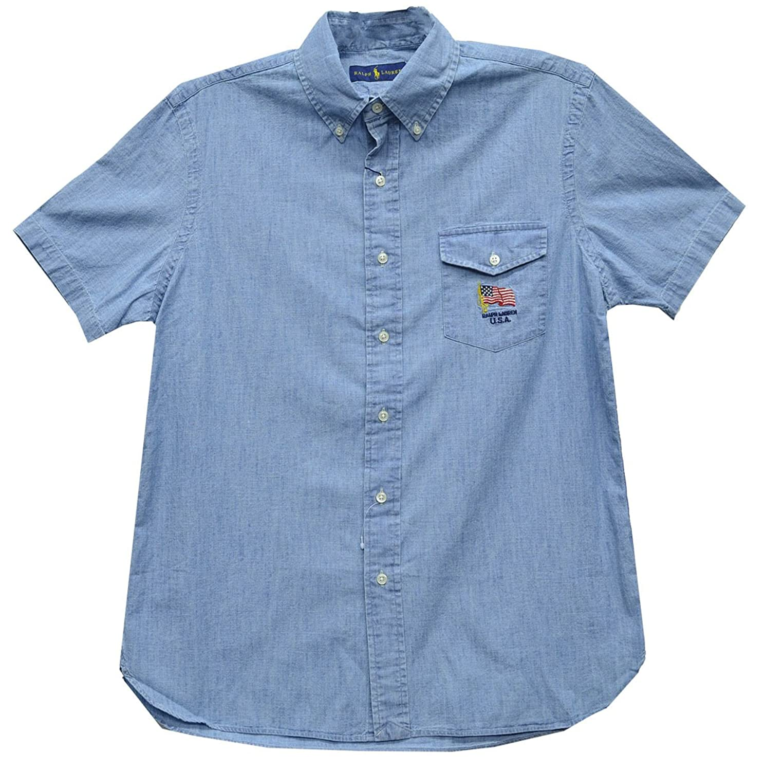 e60761ca Polo Ralph Lauren Men's Standard Fit Cotton Chambray Shirt This  Americana-inspired version of Polo Ralph Lauren's classic ...