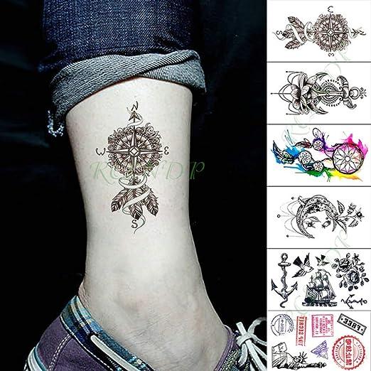 3 PC Impermeable Etiqueta engomada del Tatuaje de la Serpiente del ...
