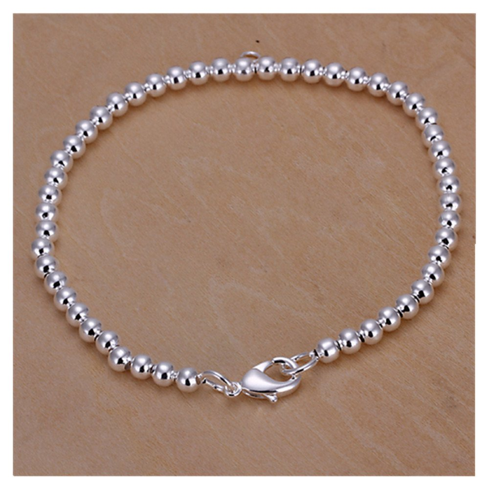 HMILYDYK Genuine 925 Pure Sterling Silver Star Dust Fine Bracelet Bangle For Silver plated Jewelry